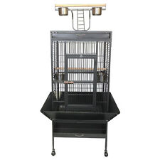 Quality Parrot Aviary Bird Cage Perch Roof Budgie Play Top On Wheels 165cm A11