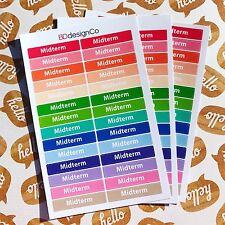 28 Midterm Exam School Planner Stickers for All Types of Planners (#151)