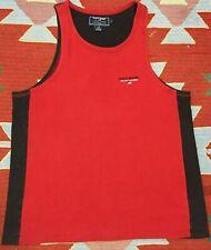 VTG Polo Sport Ralph Lauren Muscle Shirt Sleeveless T Shirt Size L Red Jersey
