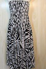 White House Black Market Size 6 Strapless Smocked Bodice Party Dress Ruffled Hem