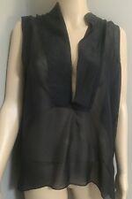 NWOT Black Silk  Asymmetric Tunic by Gwen Stefani's  L.A.M.B. sz 4