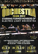 The Orchestra (Elo Former Members) Tour Tel Aviv Israel 2017 Original Flyer Rare