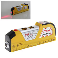 LV02 Laser Level Measuring Tape Spirit Level Horizontal Vertical Line Tape Rule