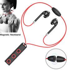 Sports Bluetooth Earphone Handsfree Magnetic Neckband Headphone Stereo Headset