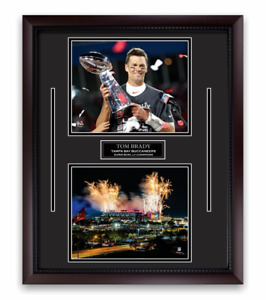 Tom Brady Unsigned Photo Framed to 16x20 Tampa Bay Buccaneers Super Bowl
