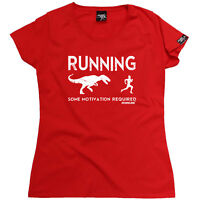 Running Tops T-Shirt Funny Novelty Womens tee TShirt - Running Some Motivation R