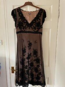John Lewis Black Lace Dress- Size 14