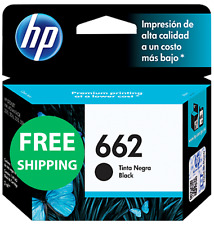 HP 662 BLACK INK CARTRIDGE CZ104A NEW SEALED ORIGINAL INKJET PRINTER EXP 2018