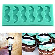 Silicone Beards Mustache Fondant Mould Cake Decorating Sugarcraft Chocolate Mold