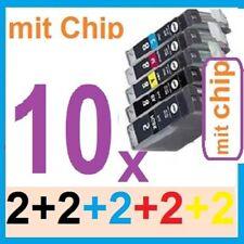 10x Druckerpatrone für Canon PIXMA IP4800 TINTE-Patrone PGI-525 CLI-525 bk c m y