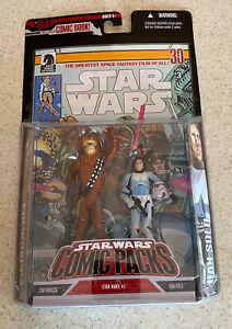 STAR WARS Comic Packs #4 -- Chewbacca / Han Solo -- 2006 Hasbro -- SEALED