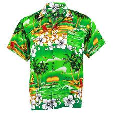 Hawaiian Shirt Aloha Hibiscus Chaba Isle Coconut Beach Green L hcd264t bid