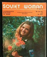 SOVIET WOMAN Propaganda Magazine - March 1975 - COLD WAR / Russian Women / USSR