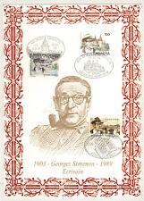 1994 - Encart De Luxe  sur Soie - G.Simenon - 900 Exemplaires -Yv.1463.2579.2911
