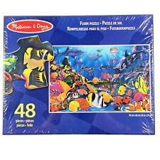 Underwater Floor Puzzle 48 Extra Thick Pieces Bright Fish Sharks Melissa & Doug