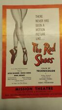 """ORIGINAL 1949 The Red Shoes Playbill Movie Mission Theatre San Diego 6"""" x 9"""""""