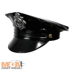 Police Cop Hat Adult Fancy Dress Policeman Uniform Ladies Mens Costume Accessory