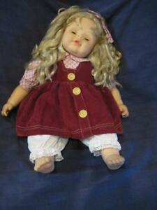 """Cititoy-1993-Open-Close-Eyes-Baby-Doll-Long-Blonde-Hair-Soft-Cloth-Body-20"""""""
