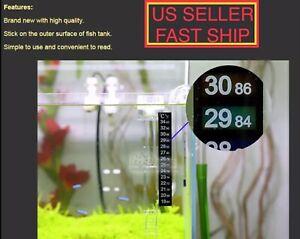 1 Aquarium Fish Tank Thermometer Temp Sticker Stick on *Fahrenheit In Bold!*