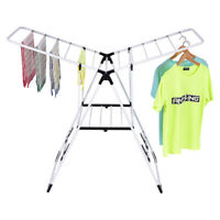 Topbuy Adjusting Clothes Drying Rack Folding Heavy-duty Hanger Collapsible Dryer