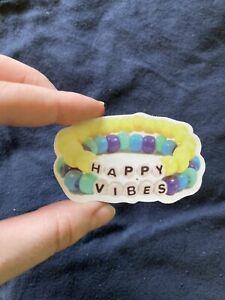 "1 Pc Sticker - ""HAPPY VIBES"" Bracelet Design - SHIPPED W/ POSTAGE STAMP IN U.S."