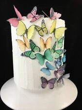 Edible Butterfly Cake Topper 20pc Mixed Rainbow Lolly Sweet Buffet Wedding Party