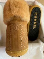 Authentic Chanel Shearling Boots. NIB. SIZE 37. Dark beige