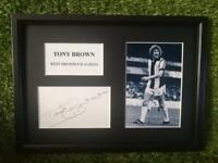 Tony Brown (West Bromwich Albion) PRINTED SIGNED AUTO A4 PHOTO MOUNT - PRINT