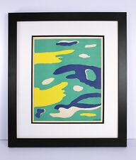 "Fernand LEGER Original 1937 Four Elements Lithograph ""Water"" SIGNED Framed COA"