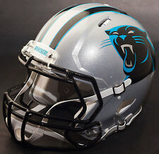 *Custom* Carolina Panthers Nfl Riddell Full Size Speed Football Helmet
