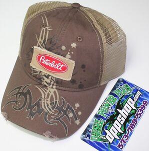 Peterbilt base ball cap trucker hat truck driver summer mesh back diesel gear
