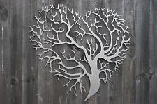 Heart Tree Metal Wall Art Decor 3D Wedding Sculpture   Love Abstract