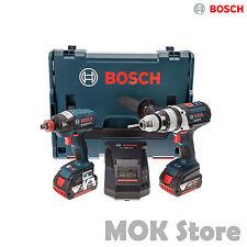 Bosch Gdx18v-ec Gsb18v-ec 2x 4.0ah Battery With Charger LBOXX Set/ Drive Drill