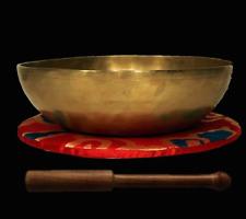 Hand hammered Tibetan Singing Bowl  Set Samhadi 30 cm Nepal