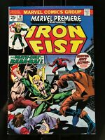 Marvel Premiere #19, FN+ 6.5, Iron Fist, Wolverine/Hulk 181 ad, 1st Colleen Wing