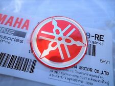 YAMAHA GENUINE 40MM RED GEL DECAL STICKER BADGE TANK & FAIRING ***UK STOCK***