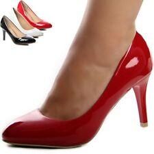 Zapatos de Tacón Charol Óptica Fiesta Boda Mujer Tacones Altos Estilete