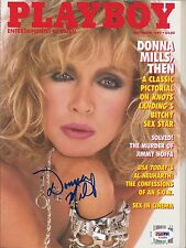 DONNA MILLS SIGNED PLAYBOY PSA DNA