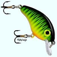 Strike King Mini 1/8 oz. Fire Tiger Bitsy Minnow Crankbait Fishing Lure