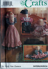 SEWING PATTERN SIMPLICITY 7314 Stuffed Lamb Doll & Draft Stopper with Clothes UC