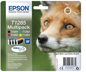 EPSON T1285 VOLPE MULTIPACK CYAN, MAGENTA, YELLOW, BLACK SCAD.2022 OFFERTA