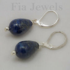 ORECCHINI gocce Lapislazulo naturale EARRINGS natural lapis lapislazulo