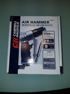"""Campbell Hausfeld Short Barrel Air Chisel/Hammer 5000BPM 1/4"""" NPT"""