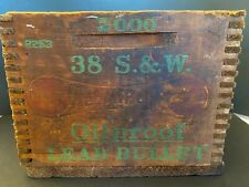 Remington .38 Smith & Wesson Kleanbore Oilproof Lead Bullet Wooden Ammo Crate