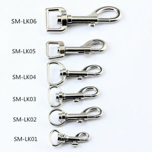 Trigger Clips Snap Hooks Bag Charm Lobster Clasps Swivel Keychain Silver Lot Of