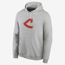 New Cleveland Indians Nike Cooperstown Collection Patch Club Hoodie Sweatshirt