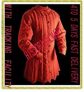 Christmas Gift Thick RED color Gambeson Medieval Padded without sleeves  Armor