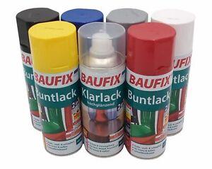 Baufix Alkydharz Lackspray 400ml Farbspray Sprühdose Spraydose Buntlack glänzend