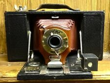 Antique Camera Kodak No 2 Folding Brownie Red Bellows Mahogany & Brass 1902 Pat