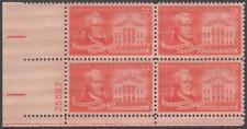 Scott # 1086 - Us Plate Block Of 4 - Alexander Hamilton - Mnh - 1957